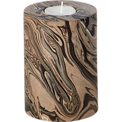 marbleized wood tea light cande holder