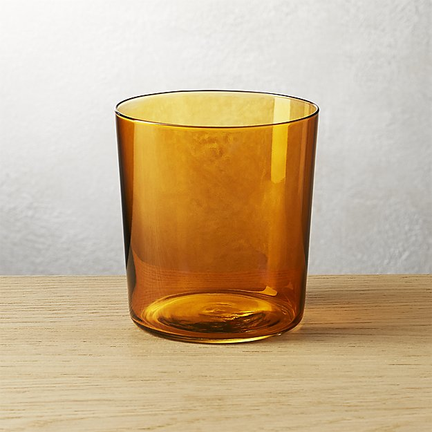 marta amber double old-fashioned glass