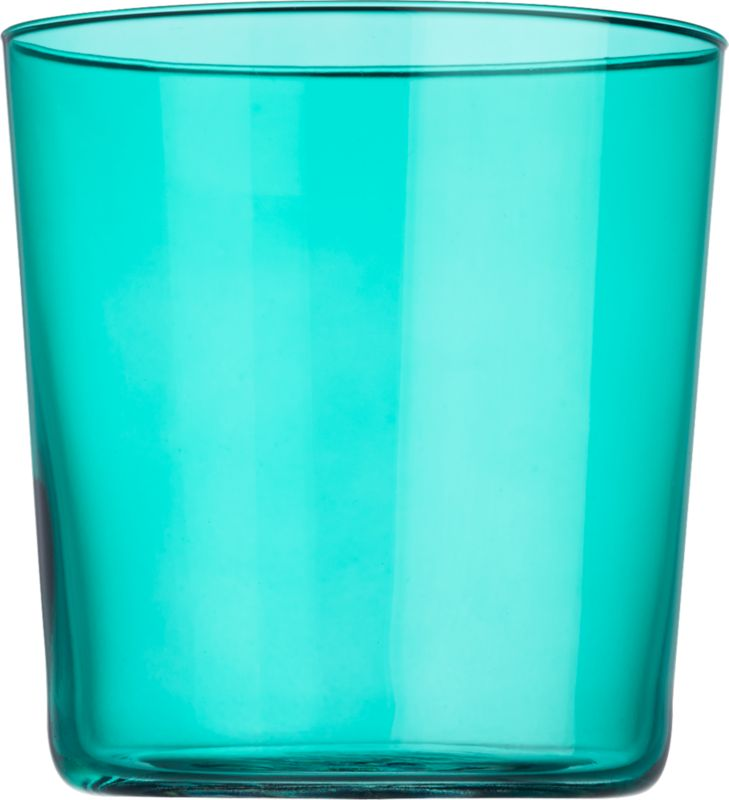 marta aqua double old-fashioned glass