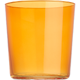 marta orange double old-fashioned glass