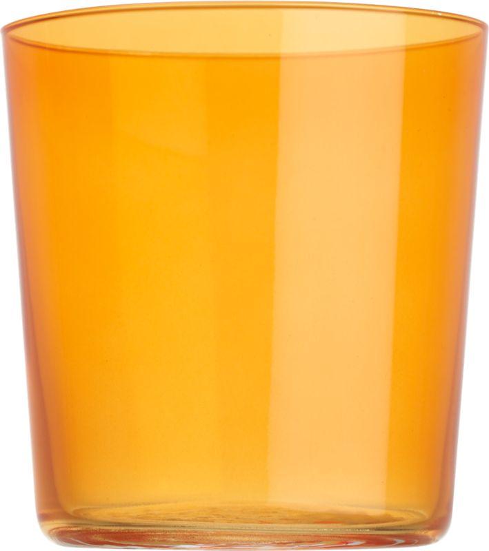 marta orange double old-fashioned glass