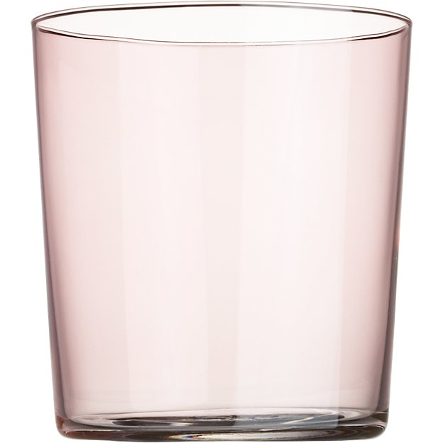 marta light pink double old-fashioned glass