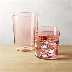outdoor dinnerware and tableware acrylic glasses cb2