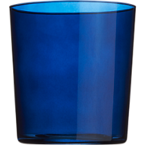 marta midnight blue double old-fashioned glass