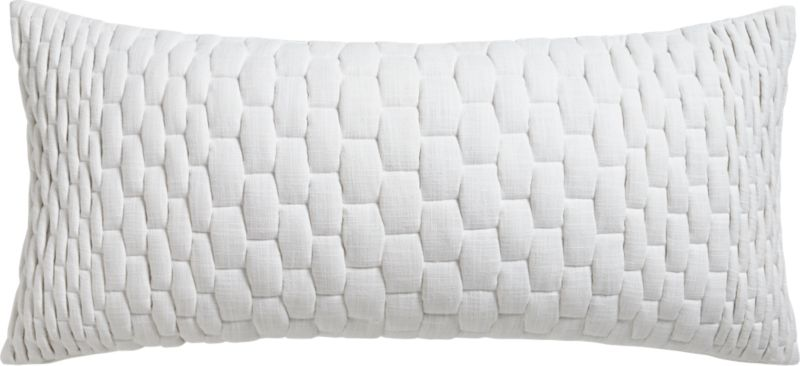 "mason quilted ombre 36""x16"" pillow with down-alternative insert"