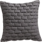 "mason quilted grey 18"" pillow with down-alternative insert."