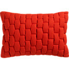 "mason quilted red orange 18""x12"" pillow with feather-down insert."