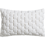 "mason quilted white 18""x12"" pillow"