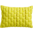 "mason quilted yellow 18""x12"" pillow with down-alternative insert."