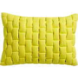 "mason quilted yellow 18""x12"" pillow with down-alternative insert"