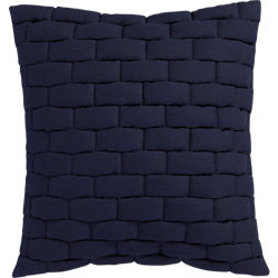 "mason quilted navy 18"" pillow"