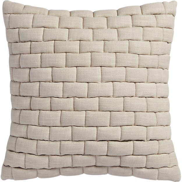 """mason quilted oat 18"""" pillow"""