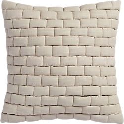 "mason quilted oat 18"" pillow"
