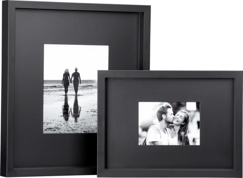 black matte picture frames