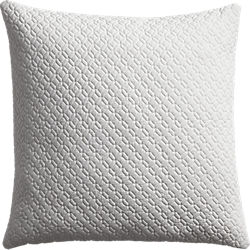 "matelasse white 20"" pillow"