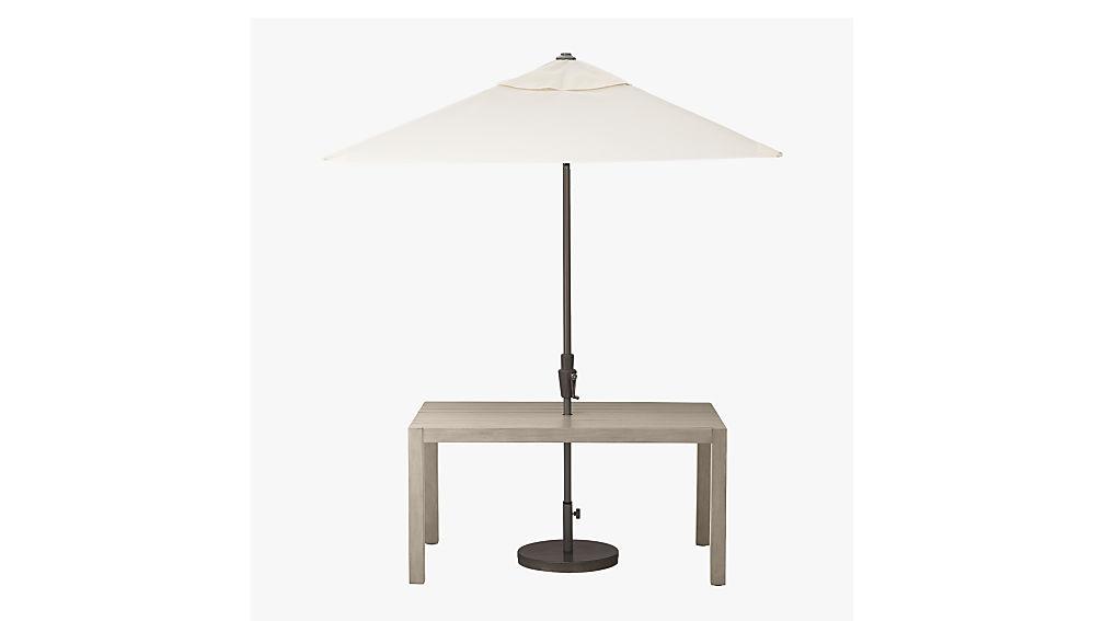 shadow natural umbrella round base