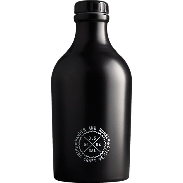 matte black growler