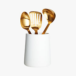 matte white utensil holder
