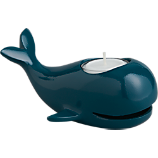 mel blue whale tea light candle holder