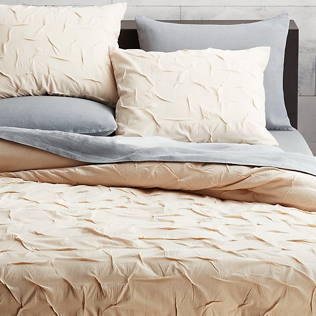 melyssa natural full/queen duvet cover