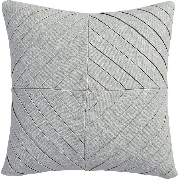 """meridian light grey 16"""" pillow"""