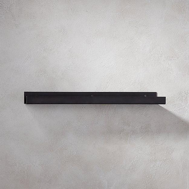 "metal gunmetal wall shelf 24"""