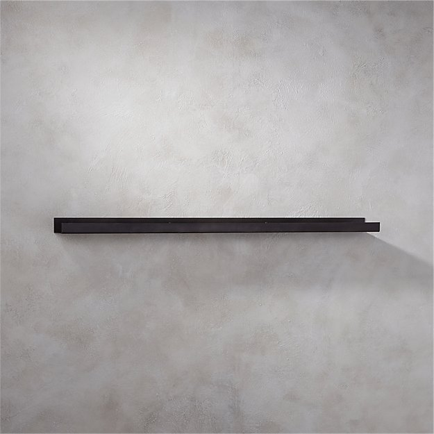 "metal gunmetal wall shelf 48"""
