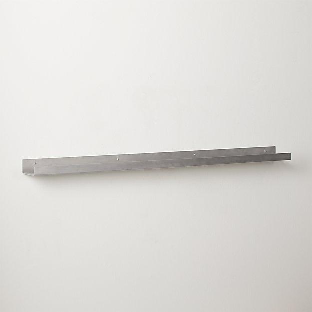 """metal aluminum wall shelf 48"""""""