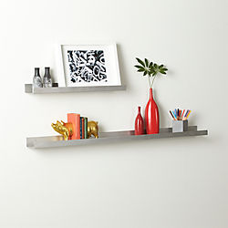 metal aluminum wall shelves