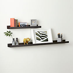 metal gunmetal wall shelves