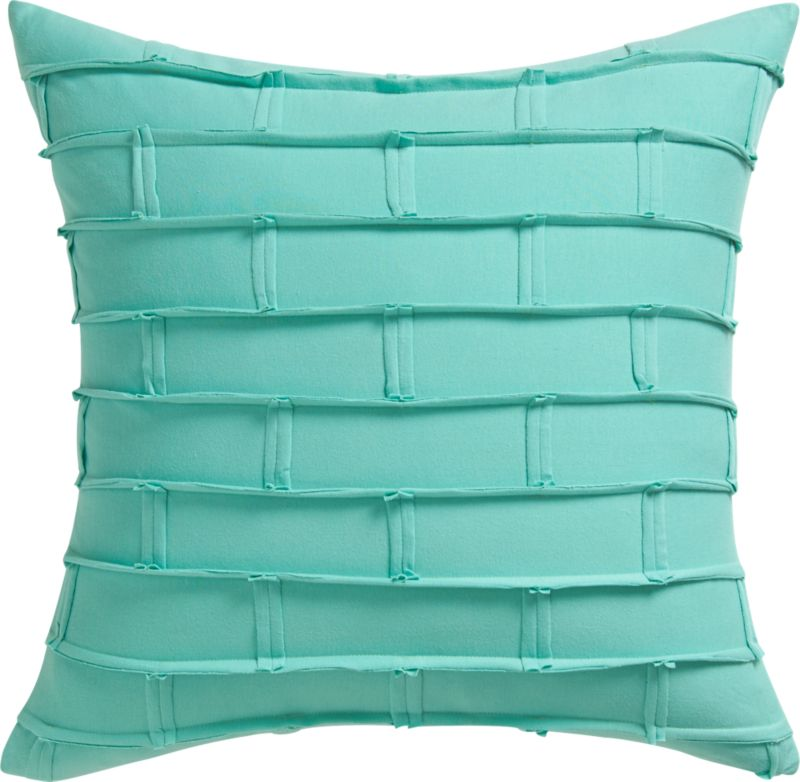 "metro aqua 20"" pillow with down-alternative insert"