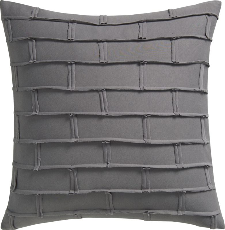 "metro grey 20"" pillow with down-alternative insert"