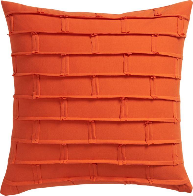 """metro orange 20"""" pillow with down-alternative pillow"""