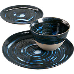 midnight dinnerware
