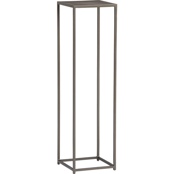 Mill tall pedestal table cb2 for Small tall end table