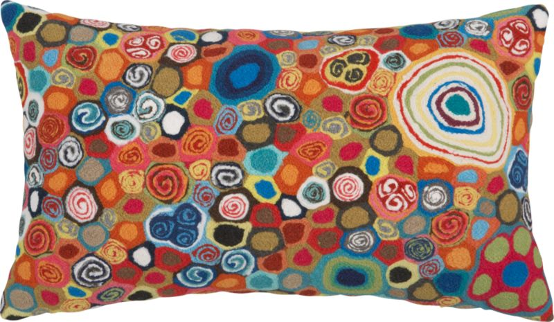"millefiora murano 20""x12"" outdoor pillow"