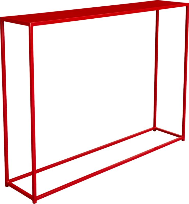 mini red console table
