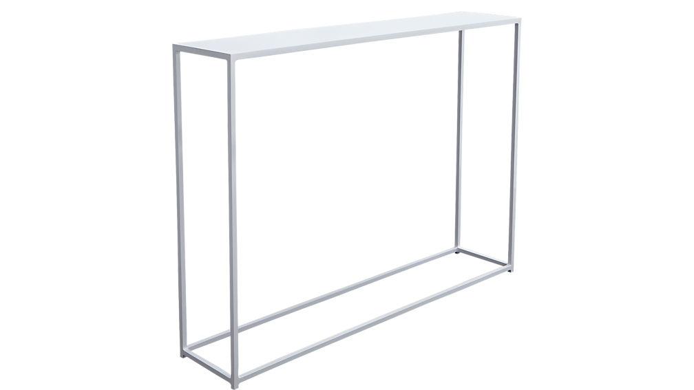 mini mill white console table