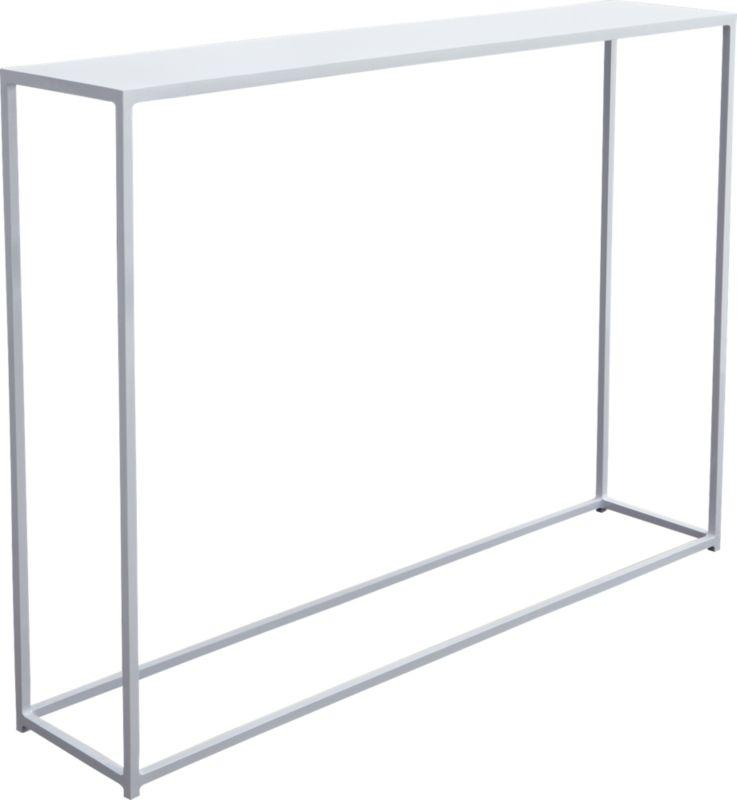 mini white console table