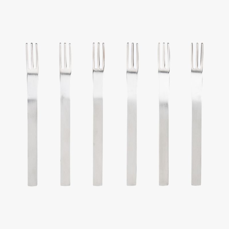 mini cocktail forks set of six