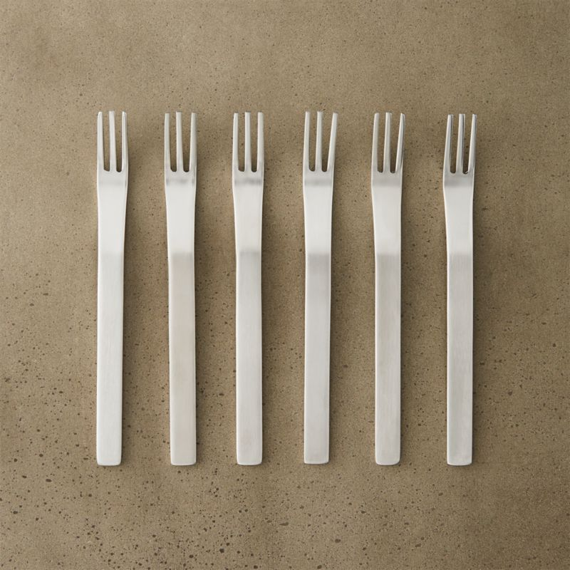 set of 6 mini cocktail forks