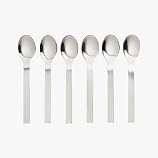 set of 6 mini cocktail spoons