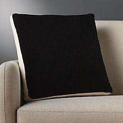 """mohair black 18"""" pillow"""