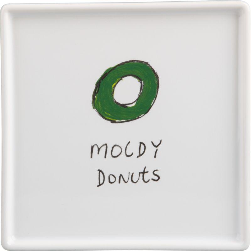 moldy donut appetizer plate