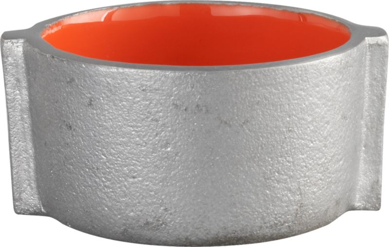 molten orange candleholder