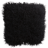 "mongolian fur black 16"" pillow"