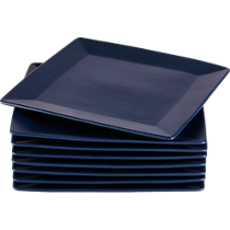 mood blue dinner plates set of eight