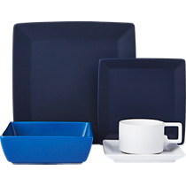 mood blue dinnerware