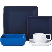mood blue dinnerware