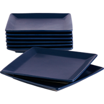 mood blue salad-dessert plates set of eight